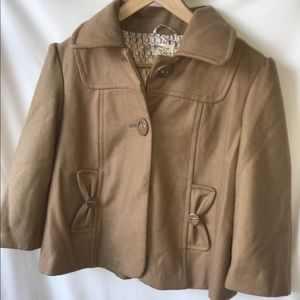 Trademark Tulle by Anthropologie Short Tan Jacket